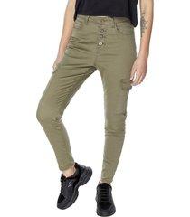 jeans cargo ii verde militar corona