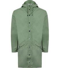 rains long jacket green 12020303