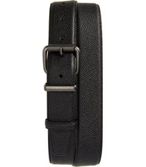 women's canali leather belt, size 36 - black