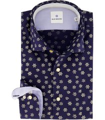 blue industry overhemd navy print