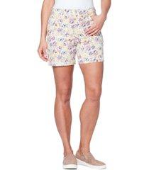 gloria vanderbilt petite amanda floral-print shorts