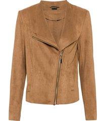 giacca in similpelle scamosciata (marrone) - bodyflirt
