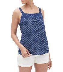 blusa sin mangas bib mujer azul gap