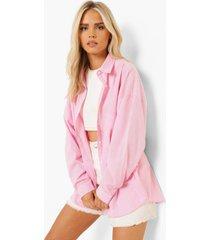 oversized gekreukelde gingham blouse, light pink