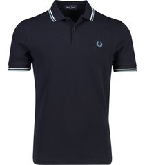 donkerblauw poloshirt fred perry