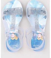 sandália infantil grendene cinderela com brilho prateada