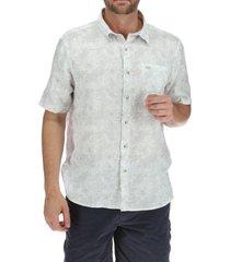 camisa lino hombre linenprint crudo rockford