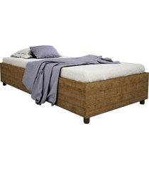cama box solteiro mônaco imbuia rustic tcil móveis