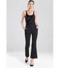 natori textured jacquard pants, women's, cotton, size 0
