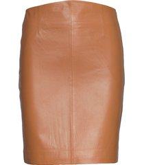 2nd electra knälång kjol brun 2ndday