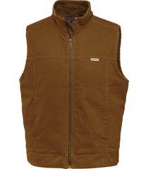 wolverine men's porter sherpa vest (big & tall) chestnut, size lt