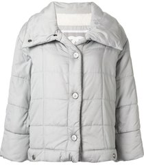 chanel pre-owned sports line square quilted jacket - silver