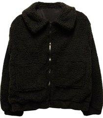 chaqueta con cierre negro jacinta tienda