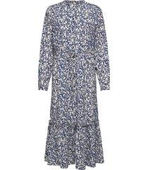 anastacia dress maxi dress galajurk blauw lollys laundry