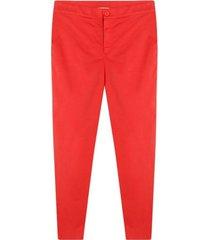 pantalón clasico mujer color naranja, talla 14