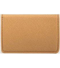 katy covered metal card case - nude