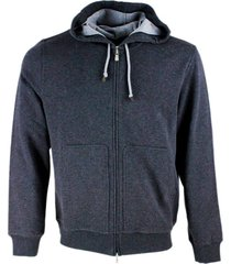 brunello cucinelli long sleeve cotton hoodie