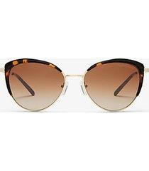 mk occhiali da sole key biscayne - marrone (marrone) - michael kors