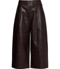 jayleeiw culotte pant leather leggings/byxor brun inwear