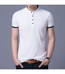camiseta de manga corta slim para hombre -blanco