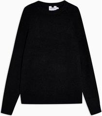 mens navy raglan knitted sweater