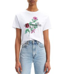 levis 69973 0051 varsity tee t shirt and tank women white