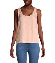 vince women's drapey tank top - pink sand - size s