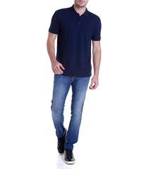 calca dudalina denn malha masculina (jeans medio, 60)