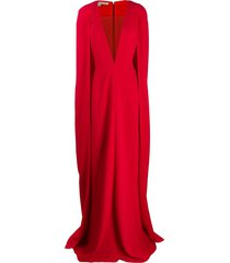 stella mccartney cape-style evening gown - red