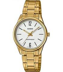 ltp-v005g-7b reloj dorado dama casio 100% original