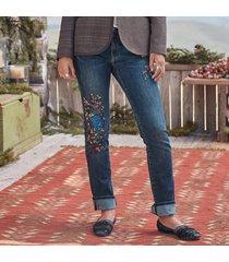 magnolia hanpainted jeans