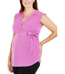 motherhood maternity split-neck tunic