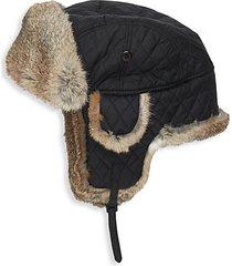 rabbit fur-trim trooper hat