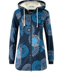 parka in cotone fantasia con cappuccio (blu) - bpc bonprix collection