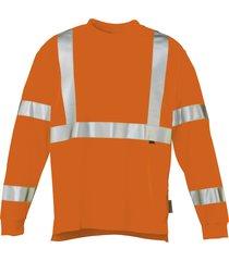 wolverine caution long sleeve tee hi vis orange, size m