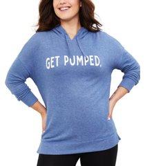 motherhood maternity get pumped nursing hoodie