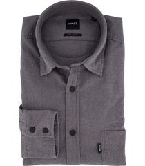 hugo boss overhemd grijs regular fit