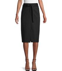 pure navy women's ponte pencil skirt - black - size 2