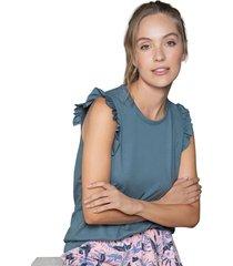 camiseta adulto femenino azul acero rutta