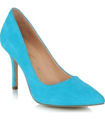 scarpin camurça azul