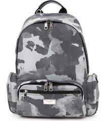 dolce & gabbana reflective camouflage nylon backpack
