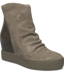 trish s shoes boots ankle boots ankle boot - heel grön shoe the bear