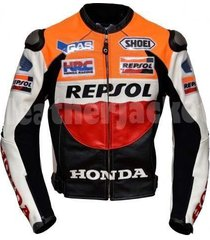 honda repsol motorcycle jacket with back hump for men xs to 6xl new leather