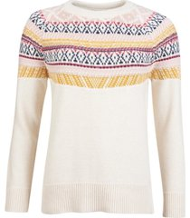 barbour homeswood printed crewneck sweater
