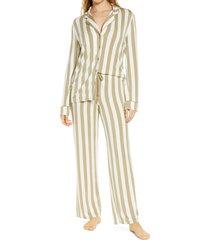 women's nordstrom lingerie moonlight pajamas, size xx-small - green