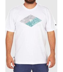 camiseta rip curl icon diamond tee branca masculina