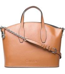 lock domed tote bags top handle bags bruin calvin klein