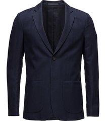 m. rick linen blazer blazer colbert blauw filippa k