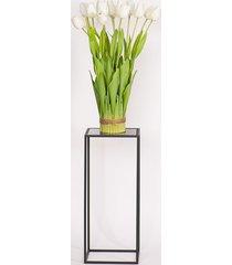 kwietnik, stolik korfu, czarne szkło, 60 cm