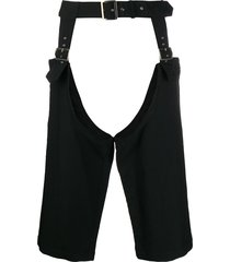 comme des garçons homme plus relaxed garter belt - black